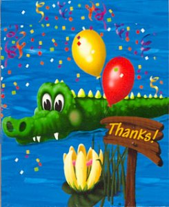 Alligator Swamp Party Thank-You Notes