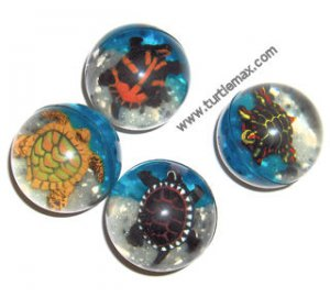 Set of Four Turtle Bouncy Balls