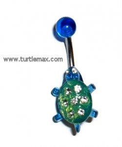 Blue & Green Turtle Banana w/Crystals