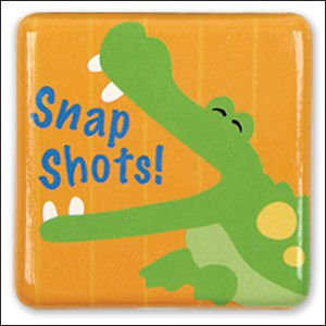 """Snap Shots"" Ceramic Gator Magnet"