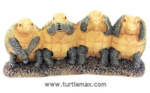 4-No Evil Ivory Looking Turtles