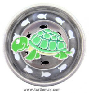 Green Turtle Sink Strainer