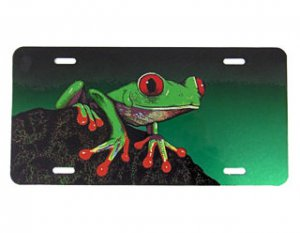 Red Eyed Treefrog License Plate