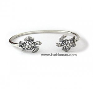 Double Sea Turtle Sterling Bracelet