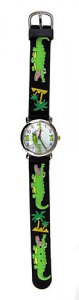 Fun Black Gator Watch