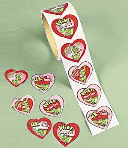 Snappy Alligator Valentine Sticker Roll (100)