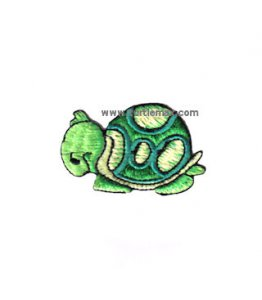 Green Turtle Embroidered Iron-On