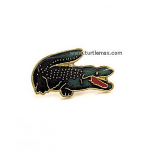 Green Gator Brass Hatpin