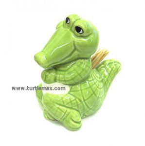 Green Gator Toothpick Holder