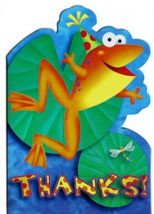 "Leap Frog Friends: Frog ""Thanks!' Cards (8)"