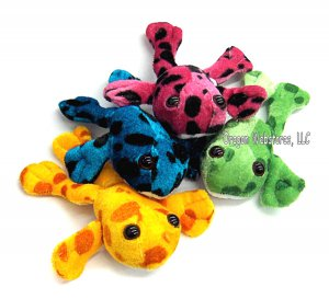 Spotted Plush Mini Frogs (12)