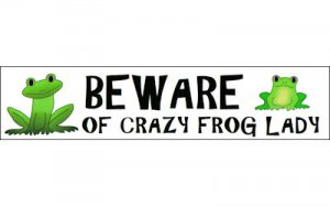 """Crazy Frog Lady"" Sticker"
