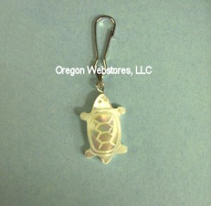 Mother of Pearl Shell Turtle Zipper Pull