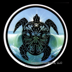 Parting Waves Sea Turtle Sticker