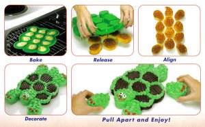 Silicone Turtle Pull Apart Cupcake Mold