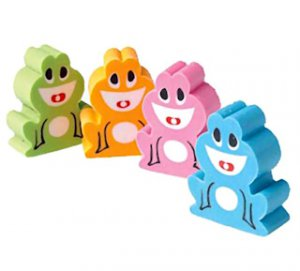 Laughing Frog Erasers (12)
