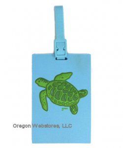 Swimming Sea Turtle Luggage Tag