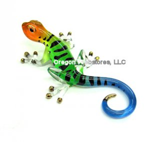 Colorful Glass Gecko