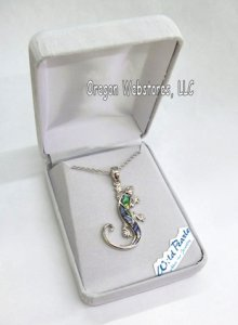 Gecko Abalone Necklace