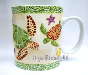 Undersea Garden Sea Turtle Mug (Large)