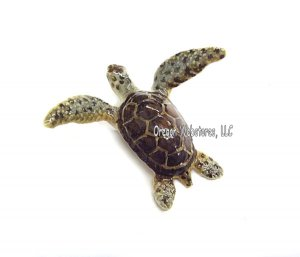 """Tortuga"" Mini Porcelain Green Sea Turtle"