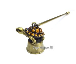 Enamel and Brass Turtle Candle Snuffer
