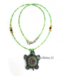 Spiral Turtle Beaded Necklace