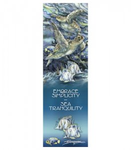 "Bergsma: ""Embrace Simplicity"" Sea Turtle Bookmark"