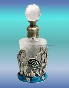 Green Sea Turtle Perfume Bottle