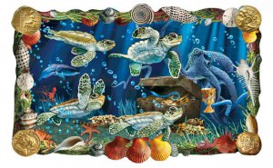 3D Sea Turtle Netbook & Reader Cling