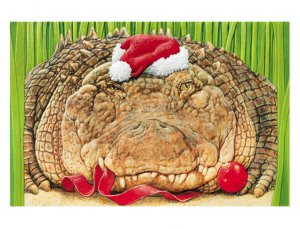 Grinning Gator Greetings Christmas Cards