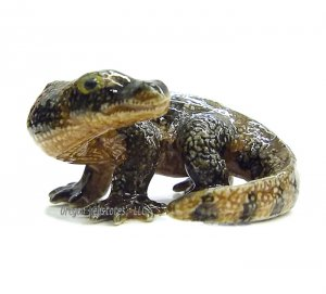"""Indonesia"" Mini Porcelain Komodo Dragon"
