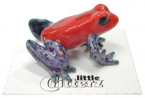 """Strawberry"" Mini Porcelain Dart Frog"