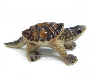 """Jaws"" Mini Porcelain Snapping Turtle"
