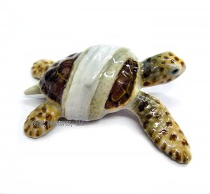 """Caretta"" Mini Porcelain Rescue Sea Turtle"