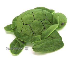 Velvety Green Little Plush Sea Turtle
