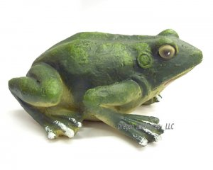 Little Green Frog Figurine