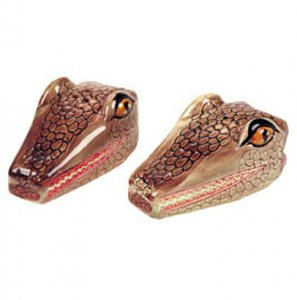 Gator Head Salt & Pepper Shakers