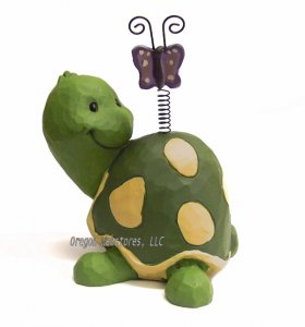 Whimsical Turtle with Butterfly