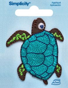 Sea Turtle Embroidered Iron-On Applique