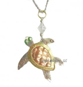Metal Art Sea Turtle Car Charm