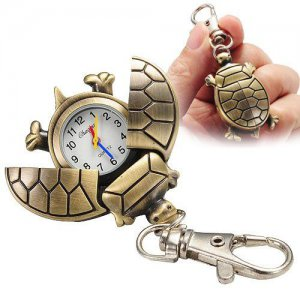 Pewter Clip-on Turtle Watch